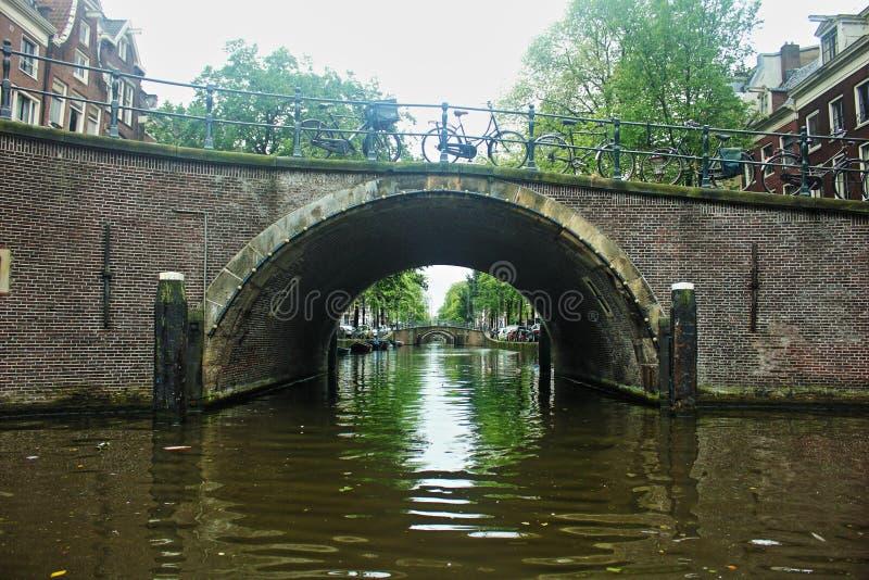 netherlands φυλακτών Κάτω από τις γέφυρες καναλιών στοκ εικόνα