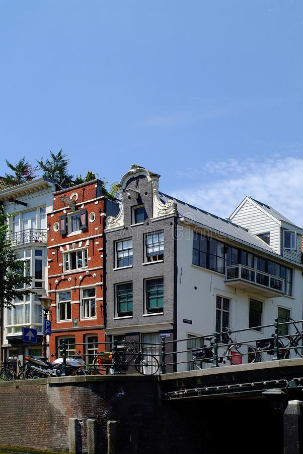 Netherlands, Amsterdam, buildings. Netherlands, buildings in traditional architecture in Amsterdam stock photos