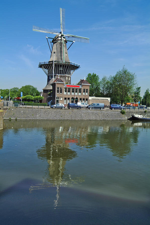 Netherlands, Amsterdam. Mill de Groyer royalty free stock photography