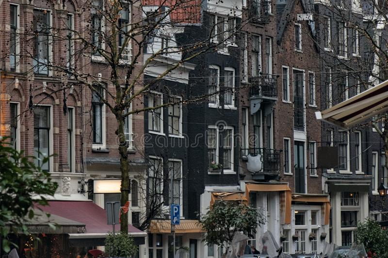 Netherlands. Amsterdam.Traditional residential development in the city center. Netherlands. Amsterdam.Traditional reential development in the city center royalty free stock photos