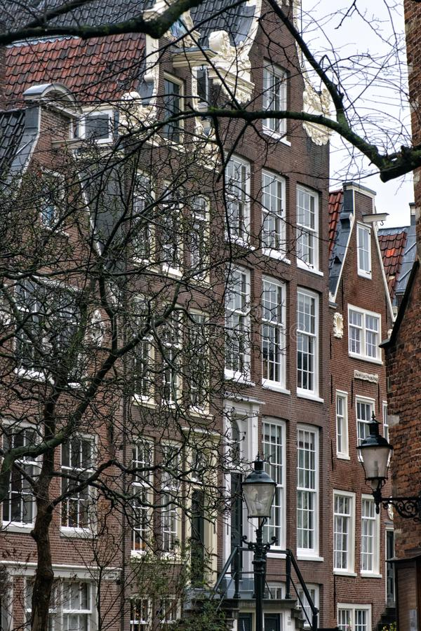 Netherlands. Amsterdam.Traditional residential development in the city center.  royalty free stock images