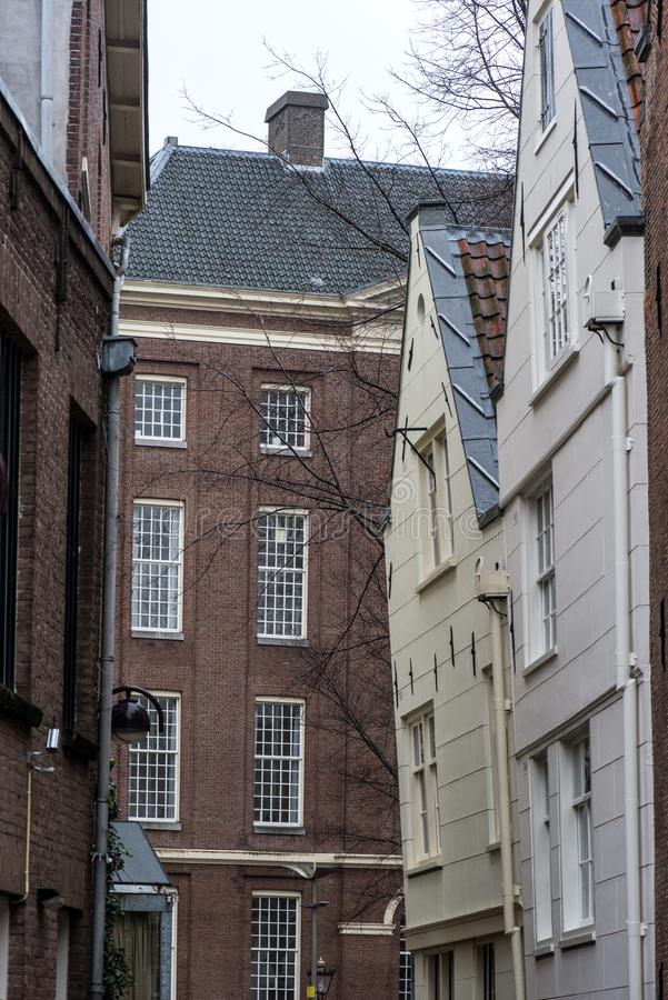 Netherlands. Amsterdam.Traditional residential development in the city center.  stock image