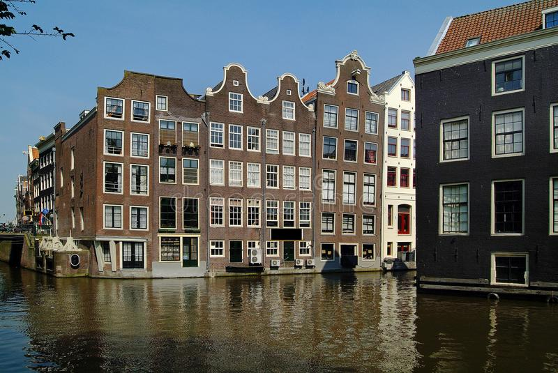 Netherlands, Amsterdam, buildings. Netherlands, buildings on waterfront in Amsterdam royalty free stock photo