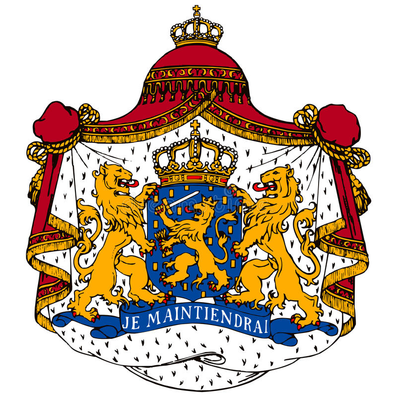 Download Netherlands coat of arms stock vector. Illustration of arms - 15266319