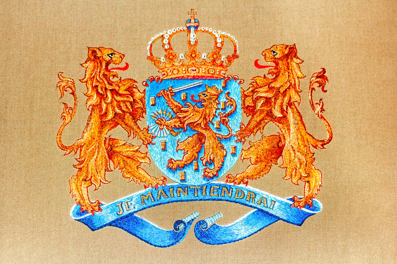 The Netherlands Coat of Arms royalty free stock photos
