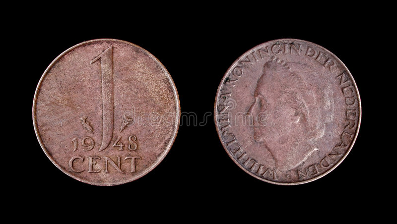 Netherlands Coin Of 1948 Royalty Free Stock Photos