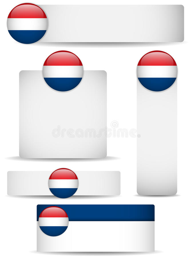 Netherlands Country Set Of Banners Stock Photography