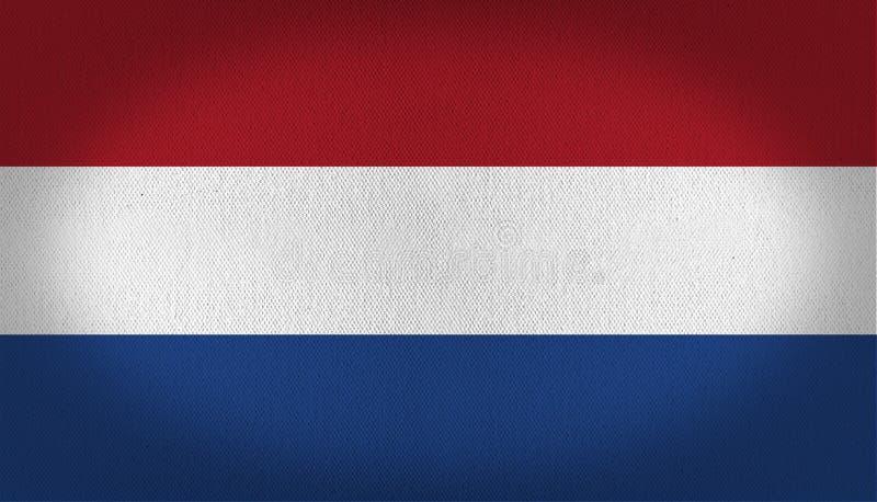 Netherlands Flag stock illustration