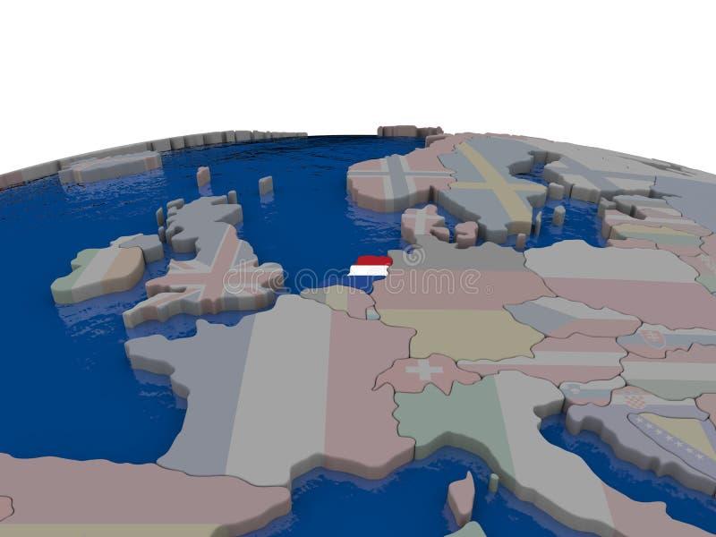 Download Netherlands With Flag Stock Illustration - Image: 83715767