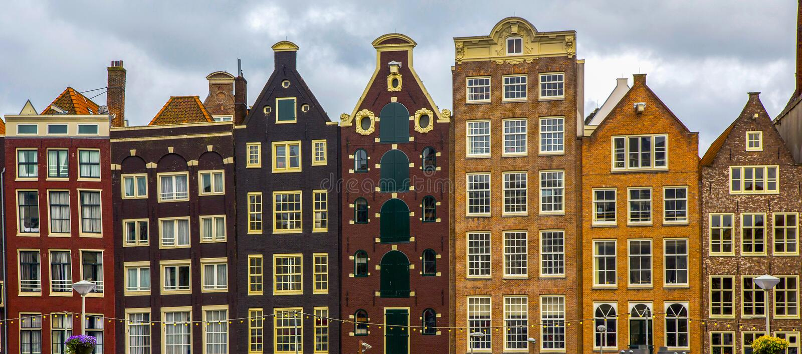 The Netherlands, Holland, Amsterdam, architecture. The Netherlands, Holland, Amsterdam, the city`s architecture, old houses royalty free stock photography