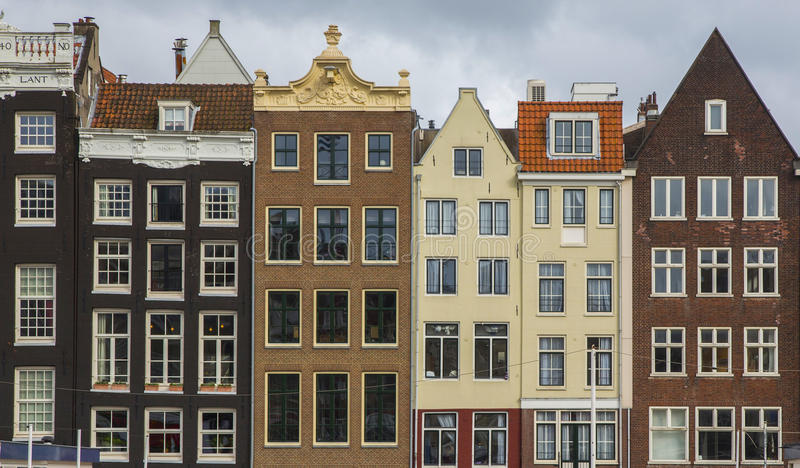 The Netherlands, Holland, Amsterdam, architecture. The Netherlands, Holland, Amsterdam, the city`s architecture, old houses royalty free stock photos