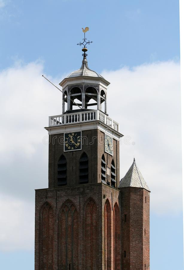 Tower ofSmall or Lady Church stock photo