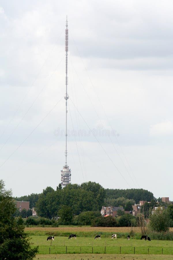 Gerbrandytoren is a t.v tower also named zendmast Lopik. Netherlands,Holland,Utrecht,Vianen,june 2016: Gerbrandytoren is a t.v tower also named zendmast Lopik royalty free stock image