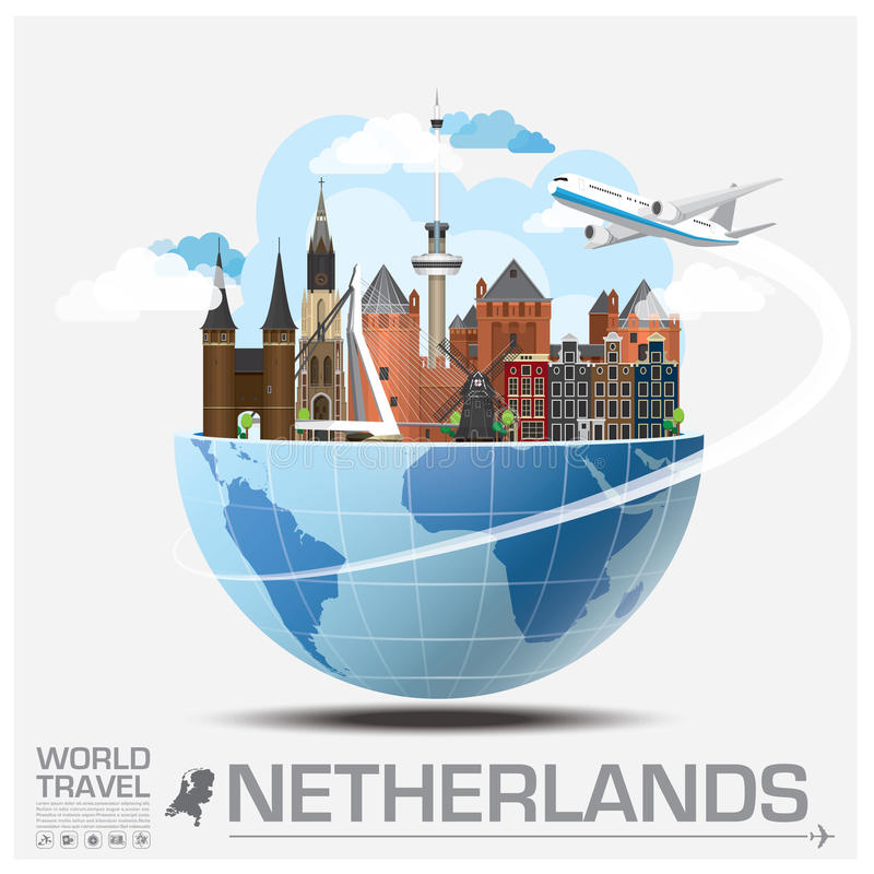 Free Netherlands Landmark Global Travel And Journey Infographic Royalty Free Stock Photography - 60729577