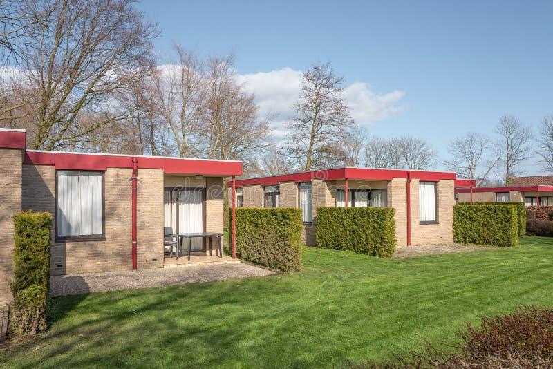 Bungalow park estate Iselmar in Lemmer, Netherlands stock image