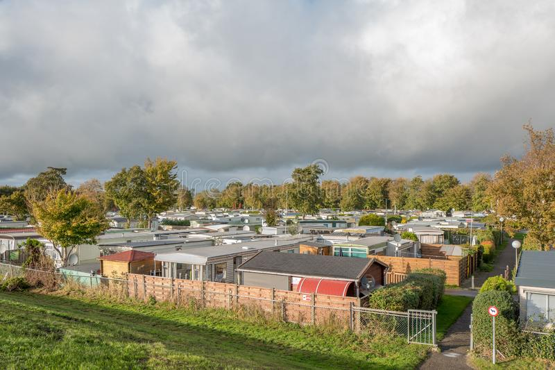 Mobile Homes In The Town Camping Lemmer  Editorial Image - Image of