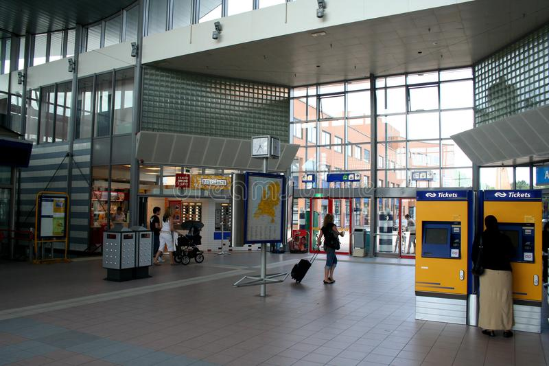 Railway station in Sittard stock photography