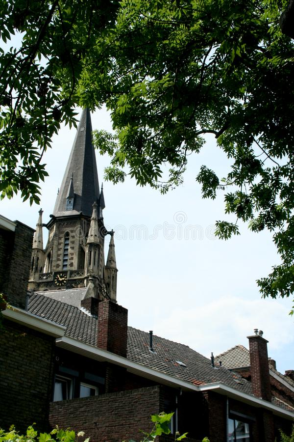 Tower of the St Petrus in Sittard stock image