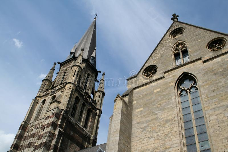 Tower of the St Petrus in Sittard stock photo