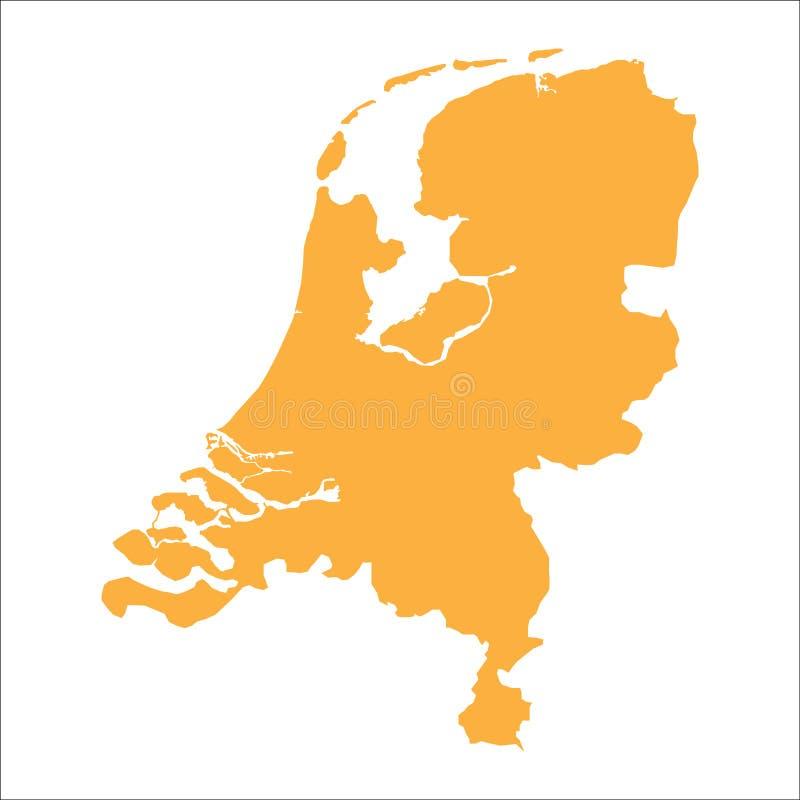 Netherlands map stock illustration