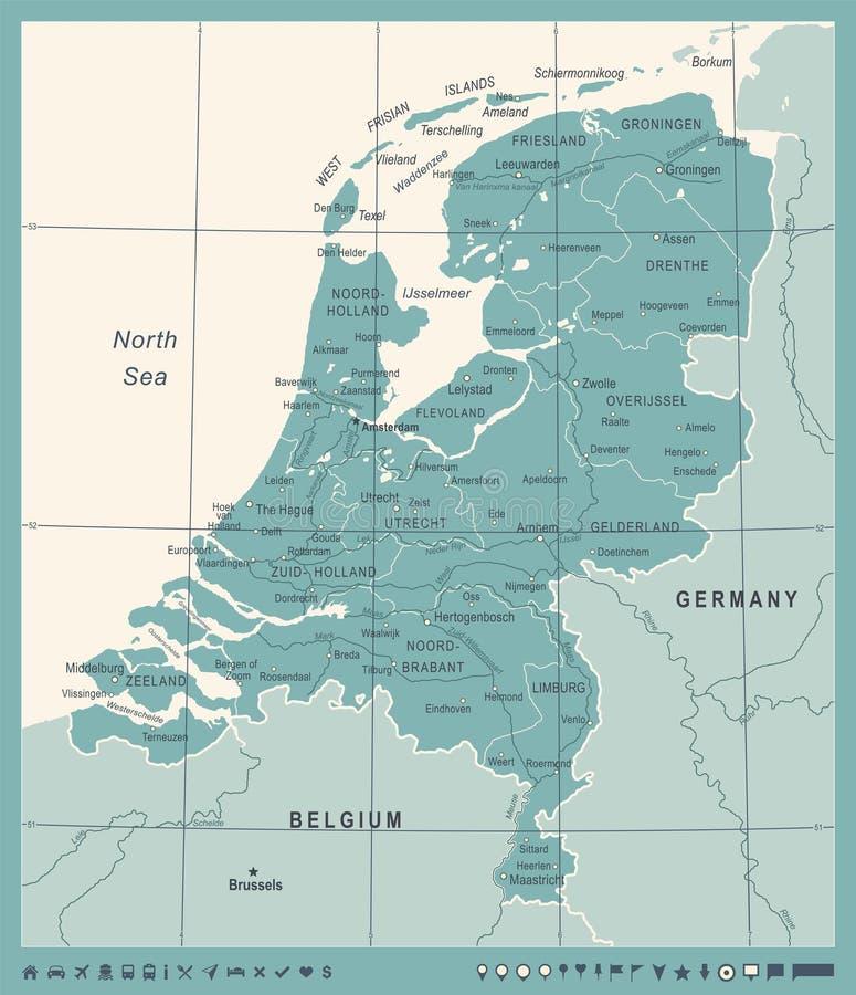 Netherlands map vintage vector illustration stock illustration download netherlands map vintage vector illustration stock illustration illustration of dutch rotterdam gumiabroncs Gallery
