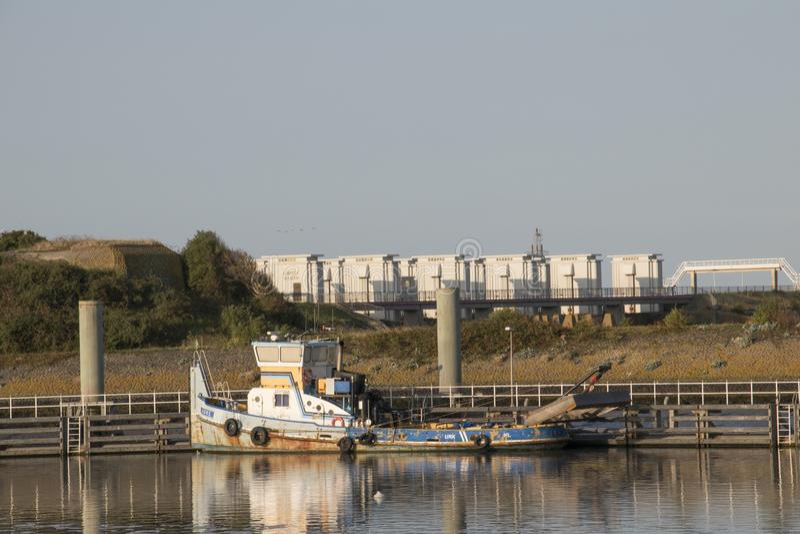 The Stevinsluizen are a lock complex in the Afsluitdijk stock photos
