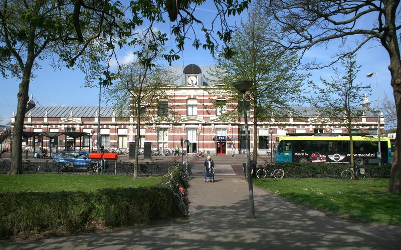 Railway station in Hoorn stock photography