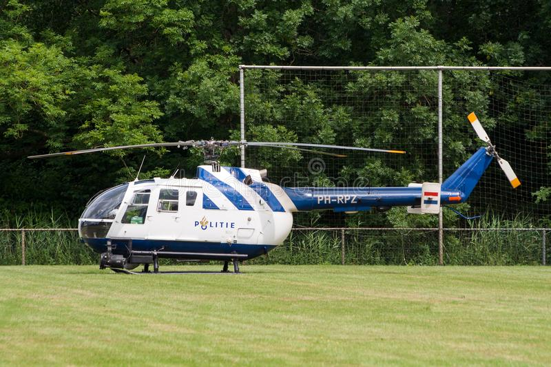 Netherlands Police helicopter Bo105 stock photography