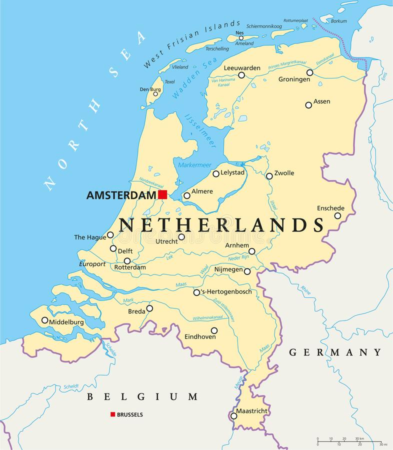 download netherlands political map stock vector illustration of belgium 103555465