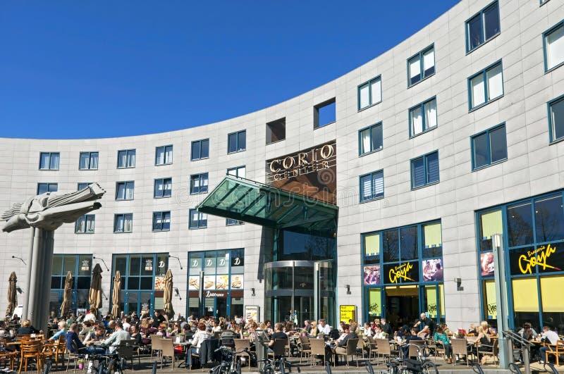 Recreation before Shopping mall Corio Center Heerlen stock image