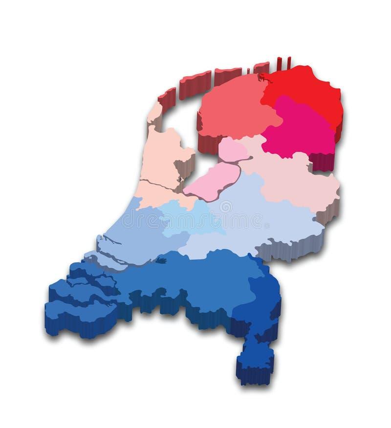 Netherlands Province Map Stock Photography