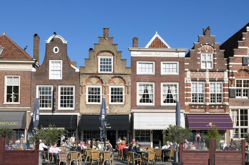 Recreation for historic houses in Dordrecht royalty free stock photos