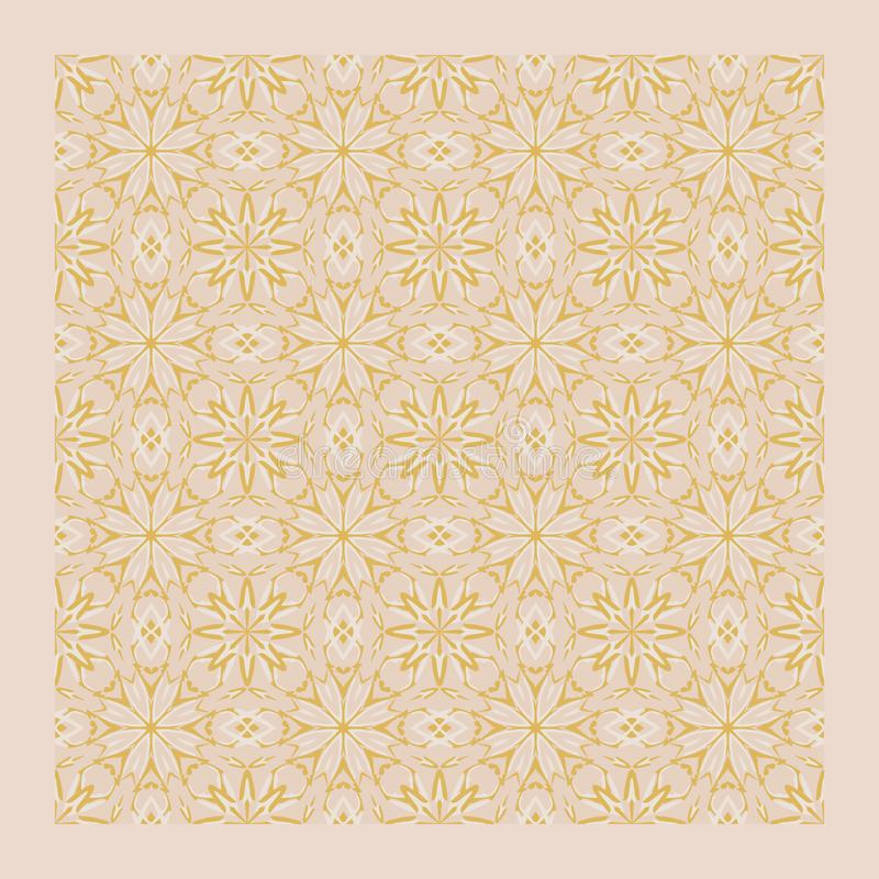 Netrivail abstract light pink mandala pattern, background, vector seamless vector illustration