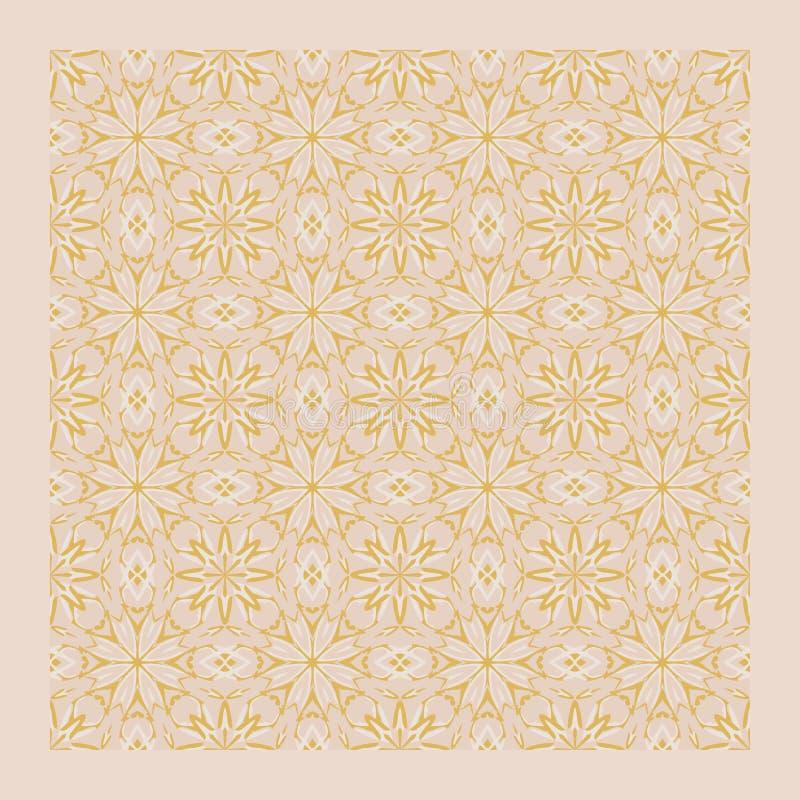 Netrivail abstrai claro - o teste padrão cor-de-rosa da mandala, fundo, vector sem emenda ilustração do vetor