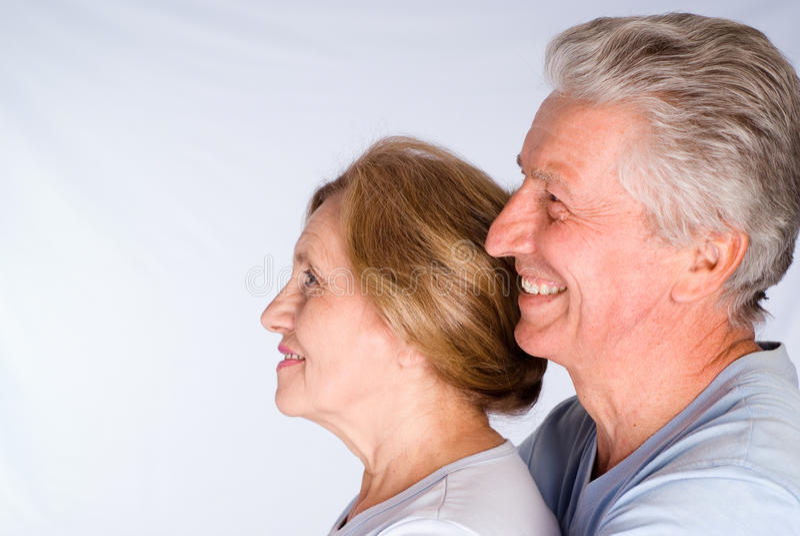 Nette ältere Paare stockfotos