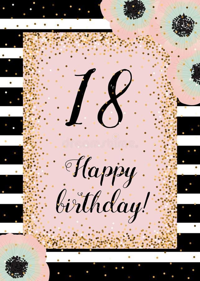 Nette alles Gute zum Geburtstagkarte lizenzfreie abbildung