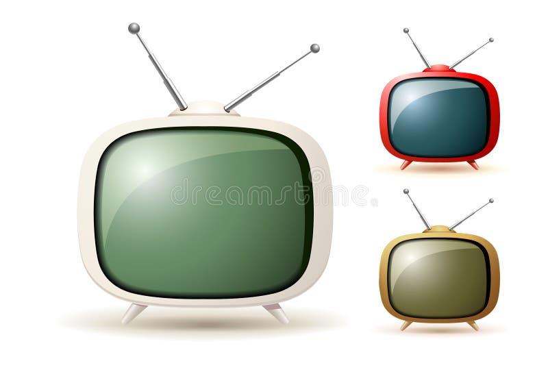 Nette alte Fernsehikonen vektor abbildung