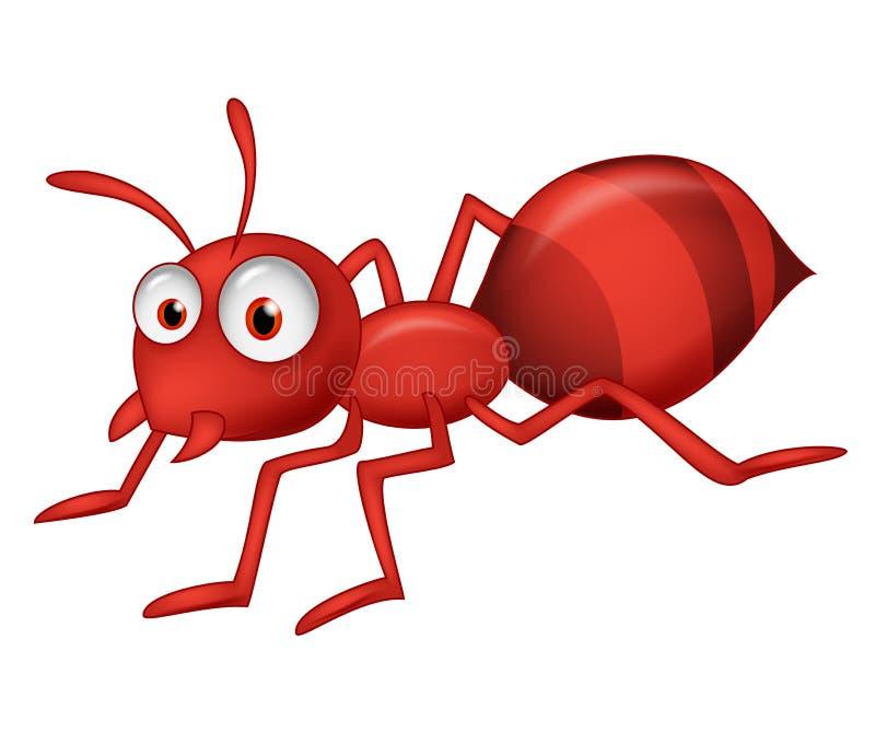 Nette Ameisenkarikatur vektor abbildung