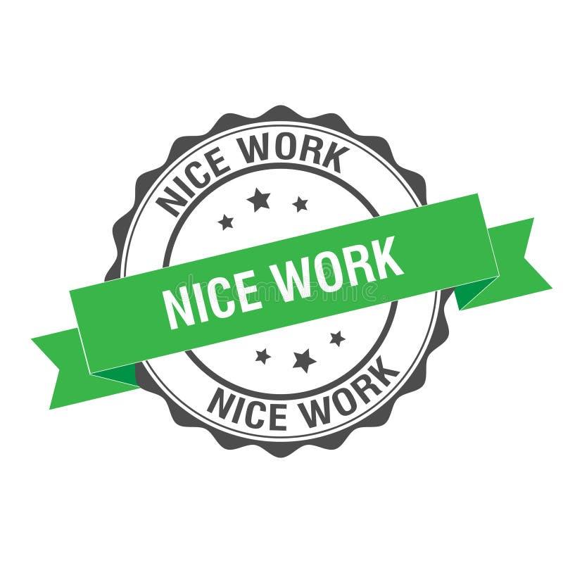 Nette Arbeitsstempelillustration lizenzfreie abbildung