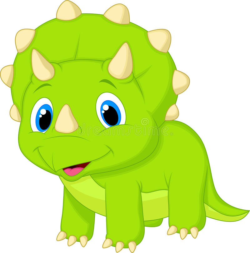 Nette Baby Triceratopskarikatur stock abbildung