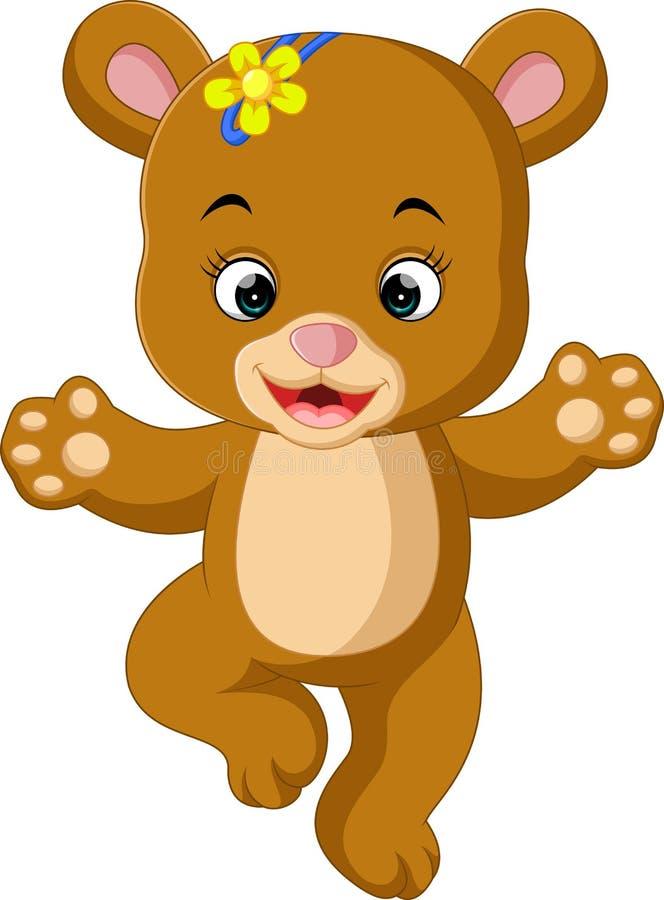 Nette Babybärn-Tanzenkarikatur stock abbildung