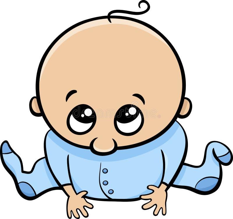 Nette Babykarikatur lizenzfreie abbildung