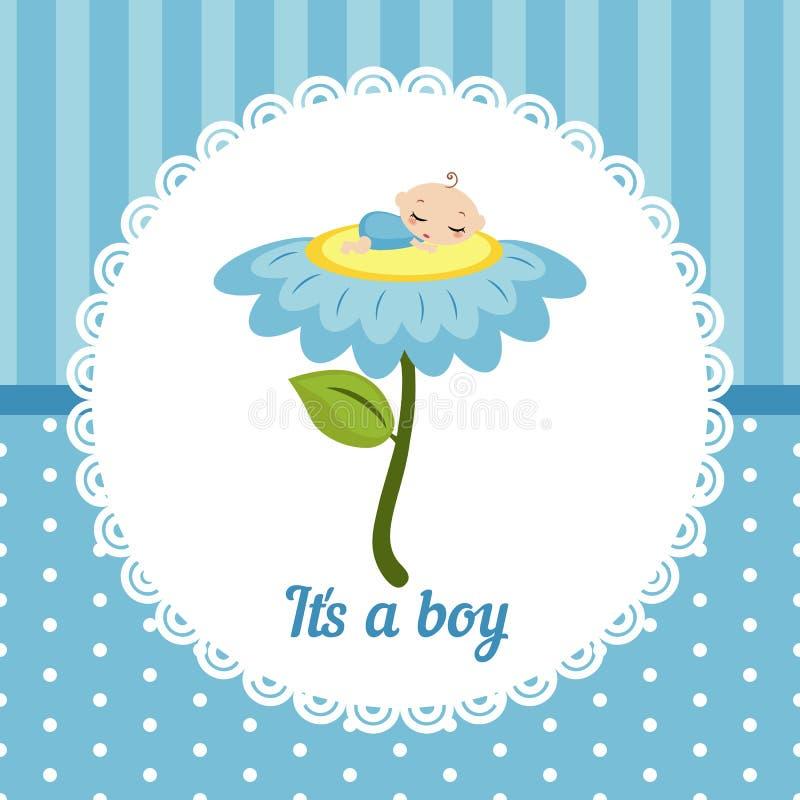 Nette Babykarte vektor abbildung