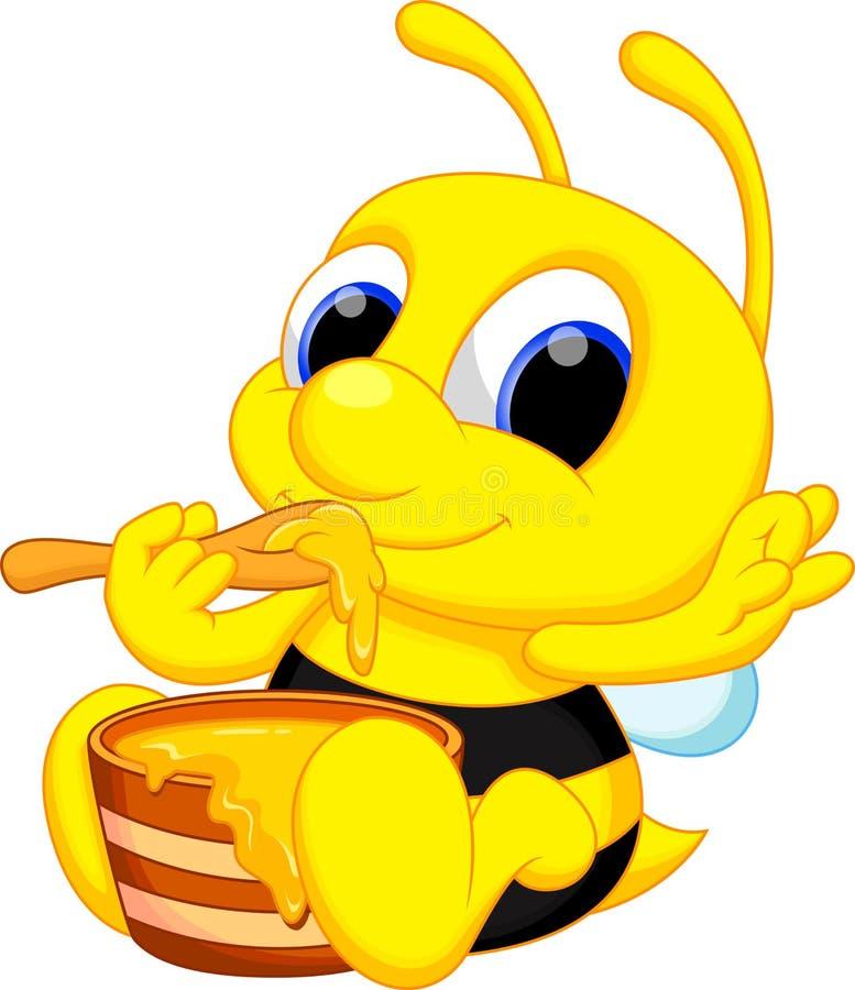 Nette Bienenkarikatur lizenzfreie abbildung