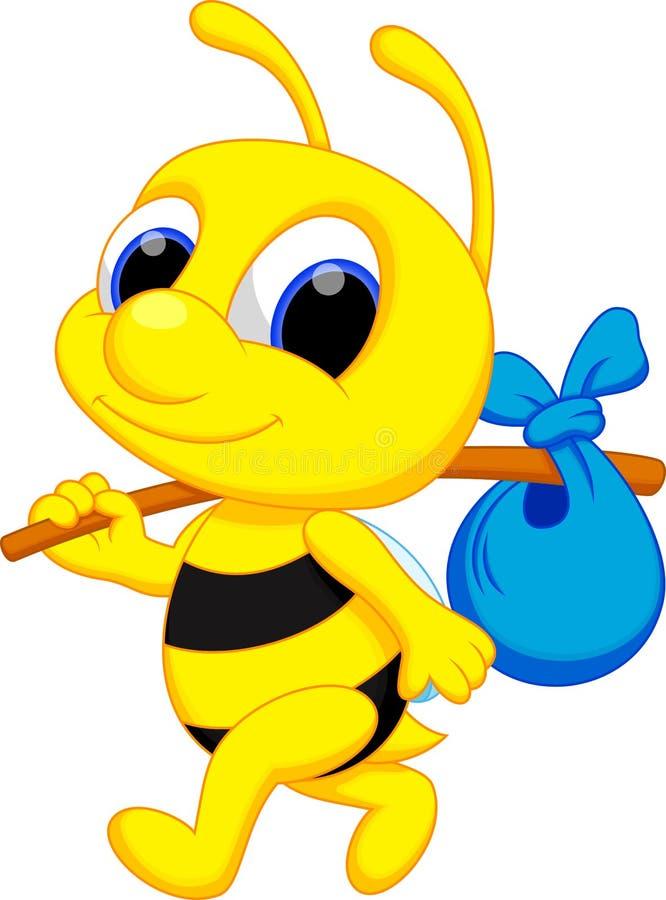 Nette Bienenkarikatur vektor abbildung