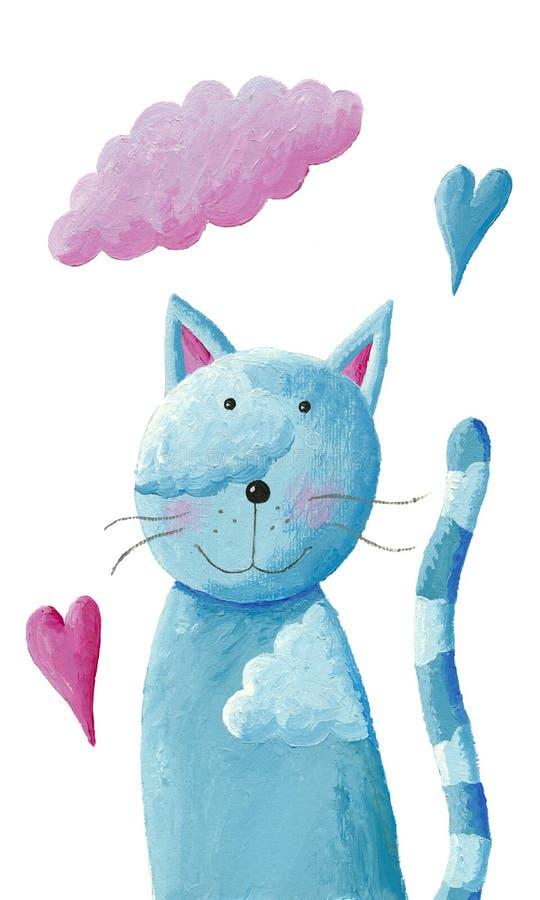 Nette blaue Katze lizenzfreie abbildung