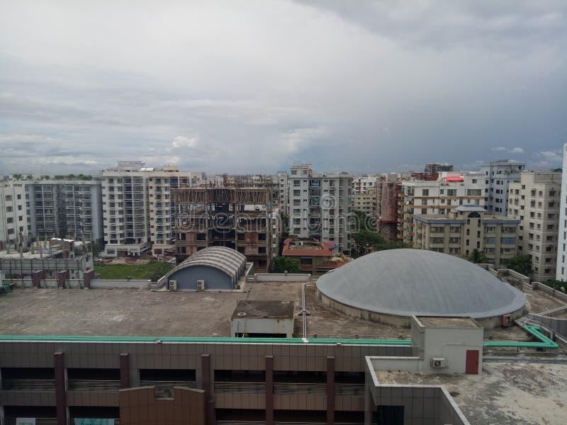 nette Blickansicht Dhaka-Stadt stockbild