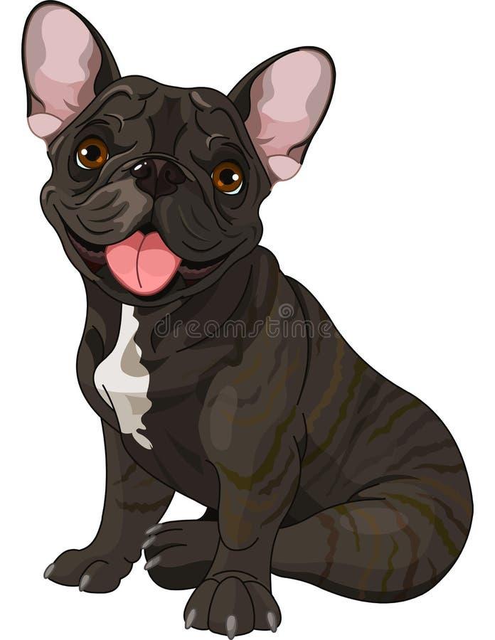 Nette Bulldogge vektor abbildung
