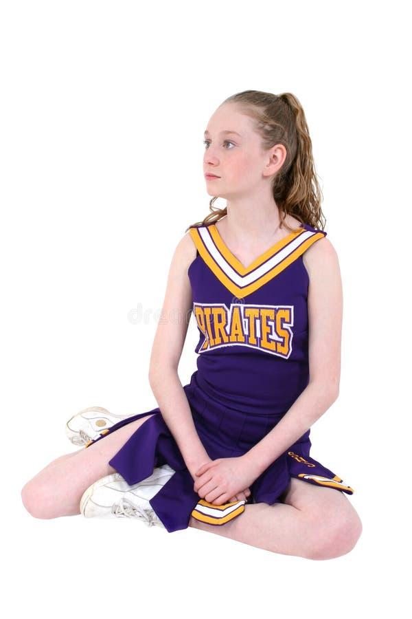 Nette Cheerleader im nicht offiziellen Namen und in den Farben lizenzfreie stockbilder