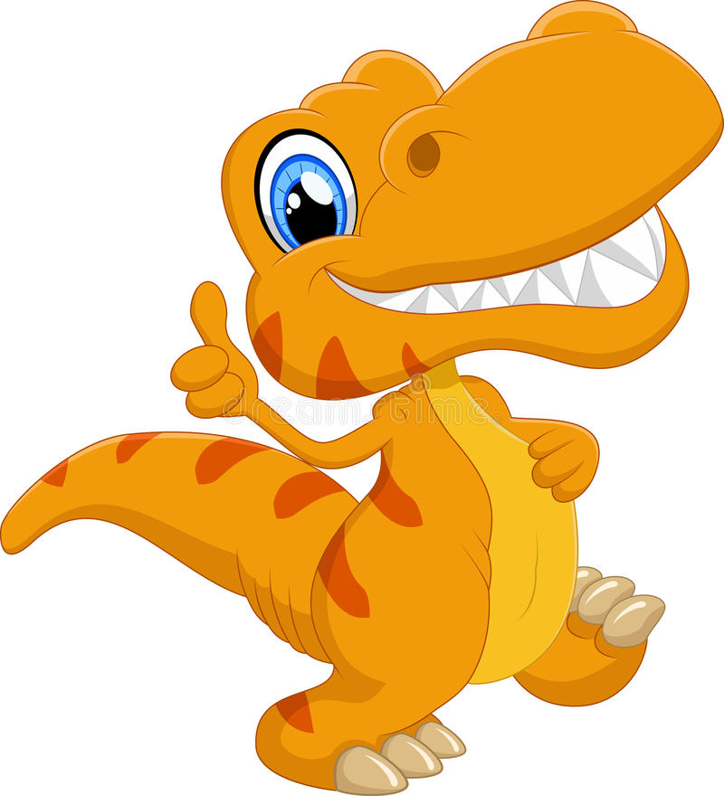 Nette Dinosaurierkarikatur stockfotografie
